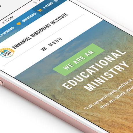 EMI website on a mobile phone